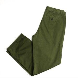 J.Crew Green, Distressed, Boyfriend Chino Pants